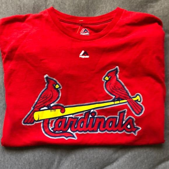 best service 114ff e88f7 Men's Majestic St. Louis Cardinals T-shirt Large
